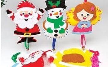 Šitíčko ozdoby vánoční postavy (3 ks)