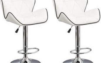2x Barová židle CL-3227 WB (bílá)