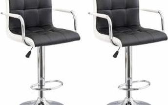 2x Barová židle CL-3331 (černá/bílá)