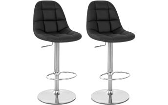 2x Barová židle CL-8023 BK (černá)