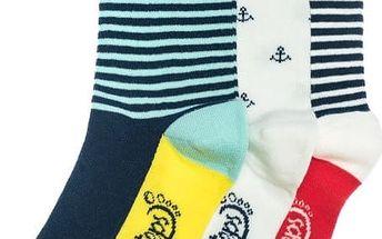 Tři páry ponožek Funky Steps Leo, unisex velikost