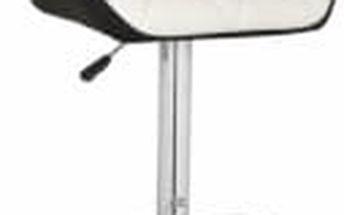Barová židle CL-3227 WT (bílá/černá) - 1 kus