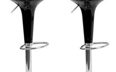 2x Barová židle Hawaj CL-1213 (černá)