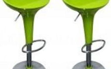 2x Barová židle Hawaj CL-1213 (limetková)