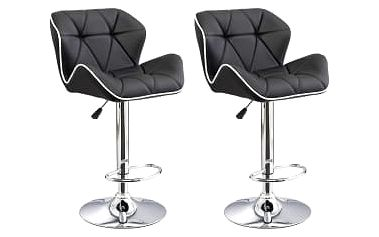 2x Barová židle Hawaj CL-3227 (černá)