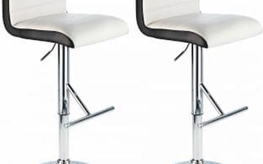 2x Barová židle Hawaj CL-8005 (bílá)