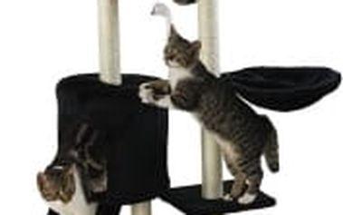 Škrabadlo pro kočky Hawaj, 138x50,5x36 cm, barva černá