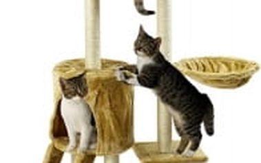 Škrabadlo pro kočky Hawaj, 138x50,5x36 cm, barva béžová
