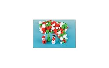 Vánoční bambulky cenově výhodné balení (210 ks)