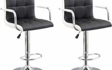 2x Barová židle Hawaj CL-3331 (černá/bílá)