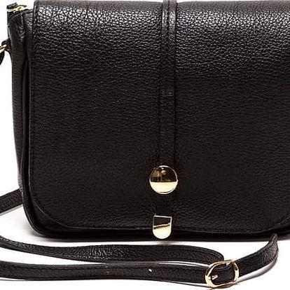 Kožená kabelka Ariela, černá - doprava zdarma!
