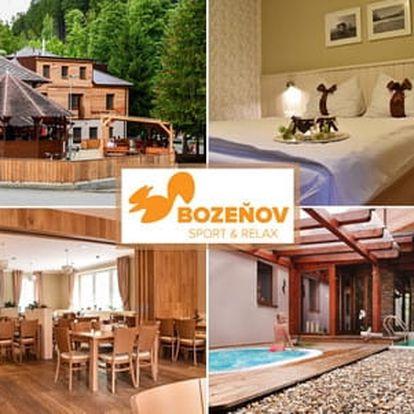 Neomezený wellness s polopenzí ve Wellness Hotelu Bozeňov pro 2 osoby