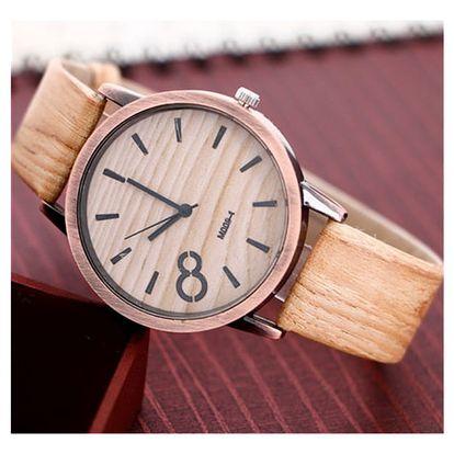 Unisex hodinky s dřevěným motivem