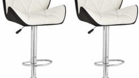 2x Barová židle Hawaj CL-3227 (bílá/černá)