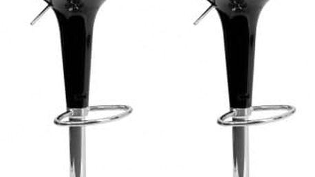 2x Barová židle CL-1213 BK (černá)