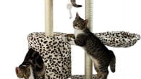 Škrabadlo pro kočky, 138x50,5x36 cm , barva leopardí