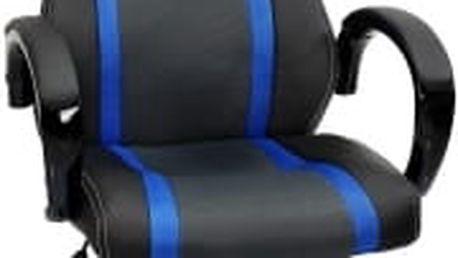 Kancelářská židle Hawaj tmavě modro-černá (s pruhy)
