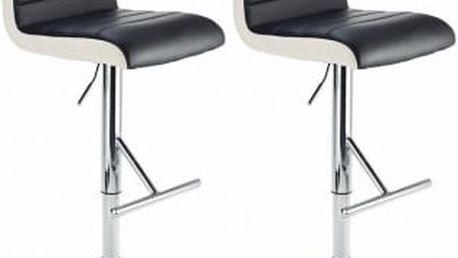 2x Barová židle CL-8005 BK (černá)