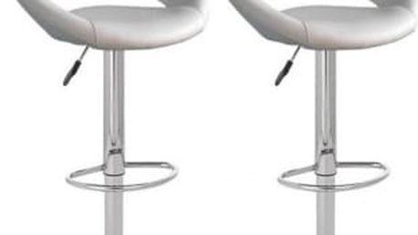 2x Barová židle Hawaj CL-3230 (bílá)