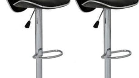 2 Barové stoličky - PÁR (černá)
