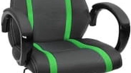 Kancelářská židle Hawaj® zeleno-černá (s pruhy)