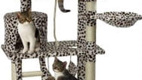 Škrabadlo pro kočky, 140x65x40 cm , barva leopardí