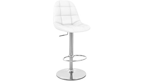 Barová židle CL-8023 WT (bílá) - 1 kus