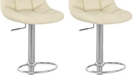 2x Barová židle Hawaj CL-8023 (krémová)