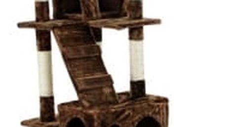Škrabadlo pro kočky, 170x75x50 cm , barva tmavě hnědá