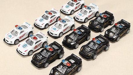 Policejní autíčka - set 12 ks