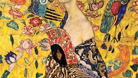 Obraz Gustav Klimt - Lady With Fan, 70x70 cm