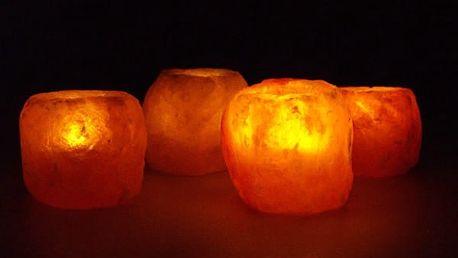 Solná lampa na čajovou svíčku - vyzkoušejte její blahodárné účinky!
