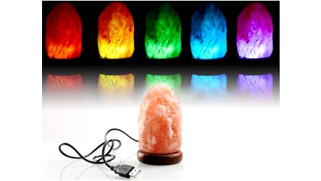 Solná lampa na USB - Barevná