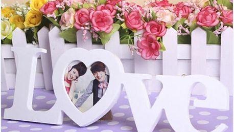Dekorační fotorámeček Nápis Love