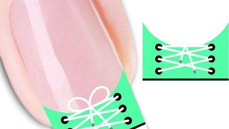Ozdobné nálepky na nehty - teniska - 2 archy - dodání do 2 dnů