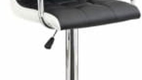 Barová židle CL-3331 černá-bílá
