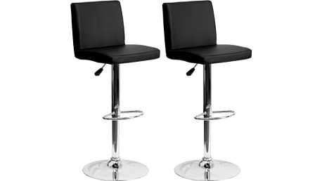 2x Barová židle Hawaj CL-7004 (černá)