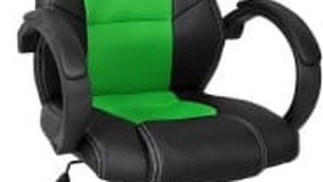Otočná kancelářská židle zeleno-černá MX Racer