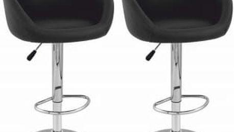 2x Barová židle Martina (černá)