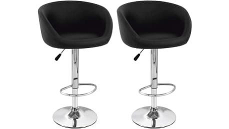 2x Barová židle Hawaj CL-7010 (černá)