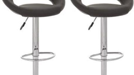 2x Barová židle Hawaj CL-3230 (černá)