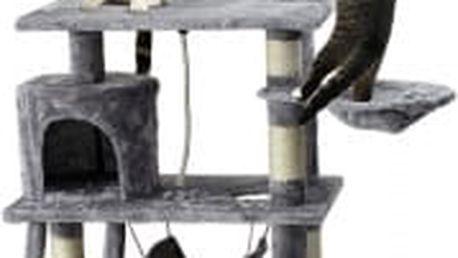 Škrabadlo pro kočky, 140x65x40 cm , barva antracit