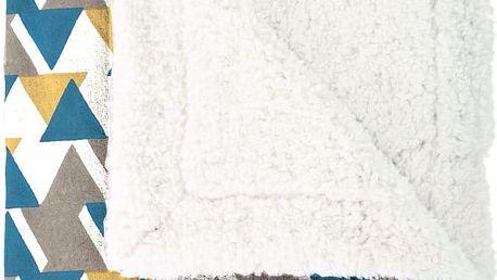 Pléd Mistral Home Triangle, 130x170, žlutá, petrol