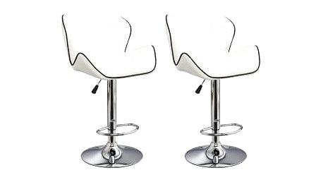 2x Barová židle Hawaj CL-3227 (bílá)