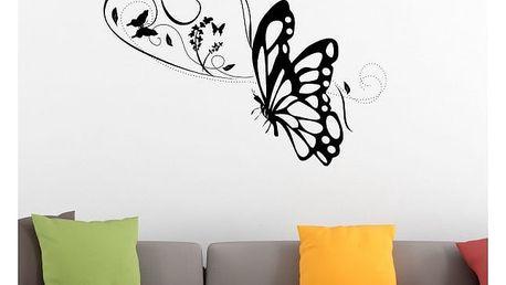Samolepka na zeď - Motýlek v letu