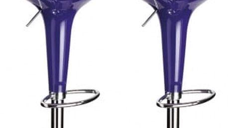 2x Barová židle Hawaj CL-1213 (fialová)
