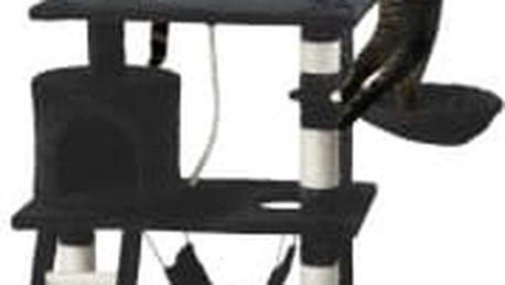Škrabadlo pro kočky, 140x65x40 cm , barva černá