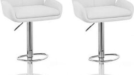 2x Barová židle Hawaj CL-3335-2 (bílá)