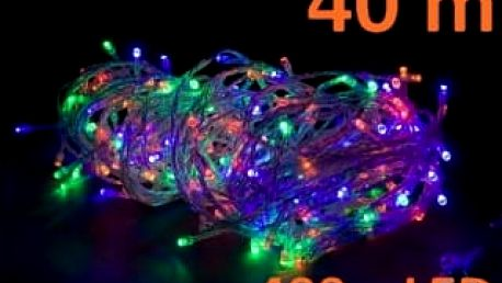 OEM D28571 Vánoční LED osvětlení 40 m, barevné, 400 diod
