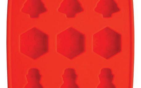 Červená forma na led Kitchen Craft Ice Cube Tray